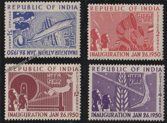 1950 Republic of India Inauguration-Set of 4 MNH