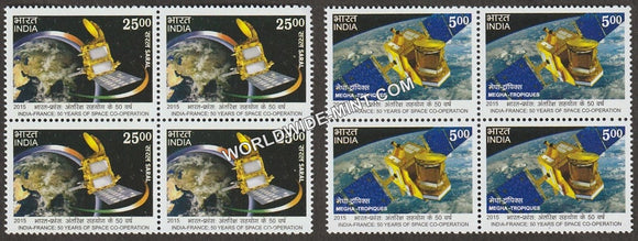2015 50 Years of Cooperation in Space-Set of 2 Block of 4 MNH