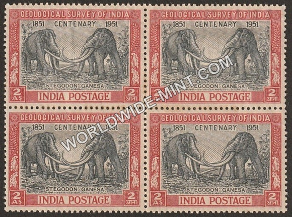 1951 Geological Survey of India Block of 4 MNH