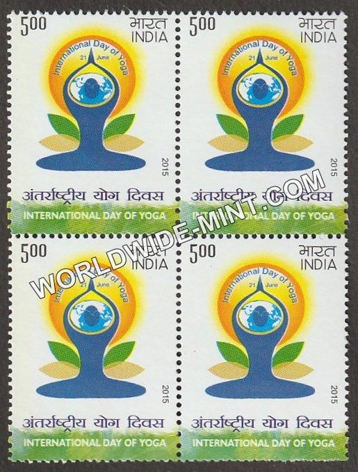 2015 International Day of Yoga Block of 4 MNH