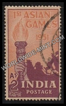 1951 Ist Asian Games-2 Anna Used Stamp