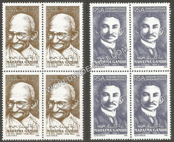 1995 RSA-INDIA Joint issue GANDHI Block of 4