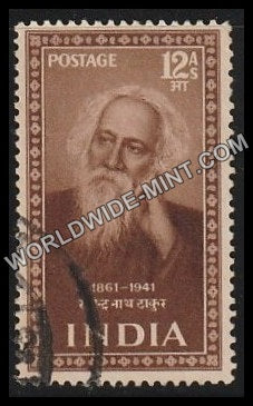1952 Saints and Poets-Rabindranath Tagore Used Stamp