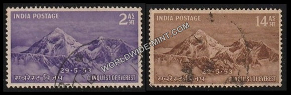1953 Conquest of Everest-Set of 2 Used Stamp