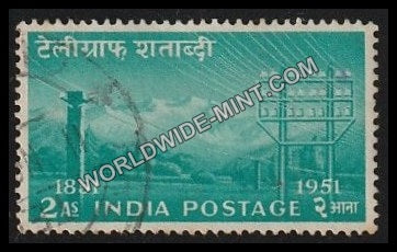 1953 Telegraph Centenary-2 Anna Used Stamp