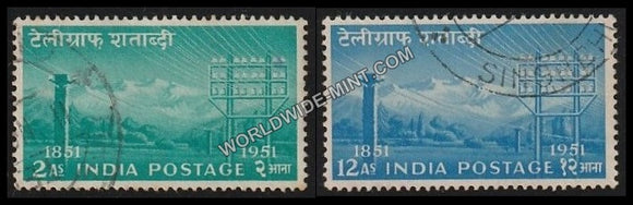 1953 Telegraph Centenary-set of 2 Used Stamp