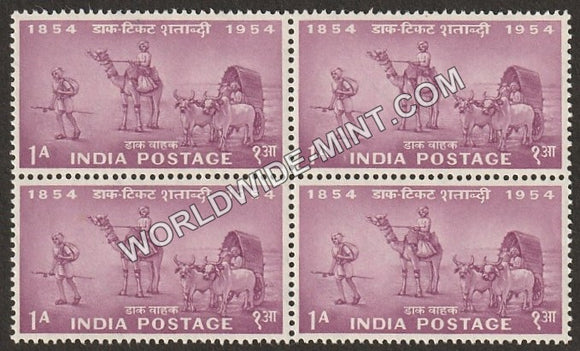 1954 Postage Stamps Centenary- Mail Transport 1854 Block of 4 MNH