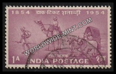 1954 Postage Stamps Centenary- Mail Transport 1854 Used Stamp