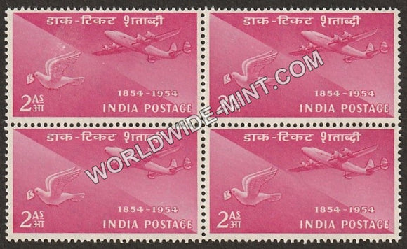 1954 Postage Stamps Centenary- Airmail Pigeon Post Block of 4 MNH