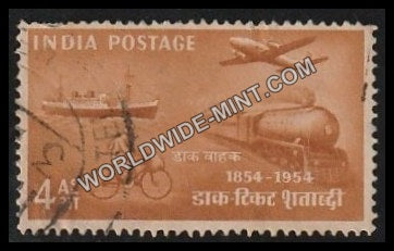 1954 Postage Stamps Centenary-Mail Transport 1954 Used Stamp