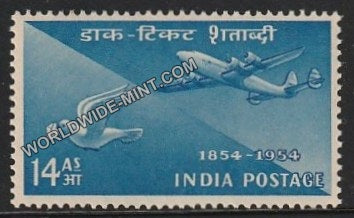 1954 Postage Stamps Centenary-Airmail and Pigeon Post MNH