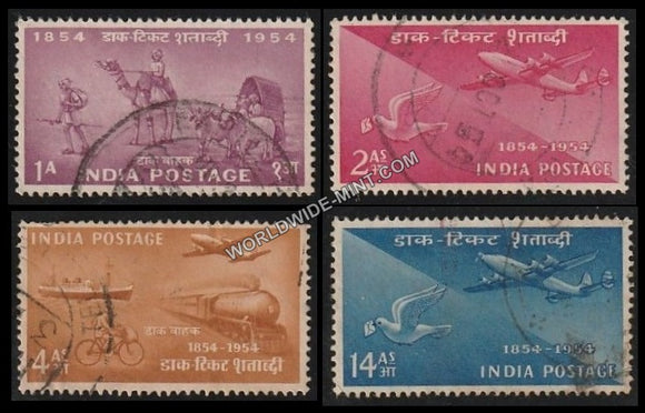 1954 Postage Stamps Centenary-Set of 4 Used Stamp