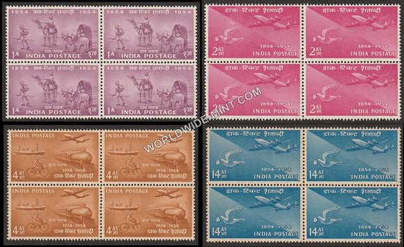 1954 Postage Stamps Centenary-Set of 4 Block of 4 MNH
