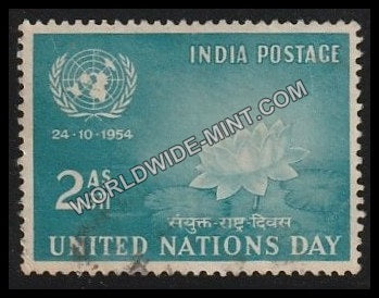 1954 United Nations Day Used Stamp