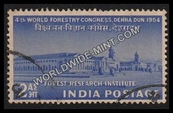 1954 4th World Forestry Congress Dehradun Used Stamp