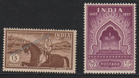 1957 Centenary of First Freedom Struggle  -  Set of 2 MNH