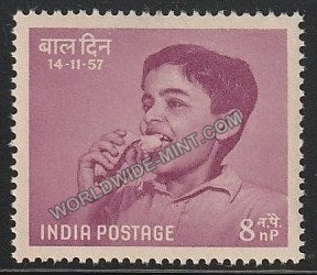 1957 Children's Day  -  Nutrition 8np MNH
