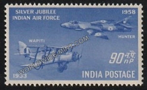 1958 Silver Jubliee of IAF - Hawker Hunter 90np MNH