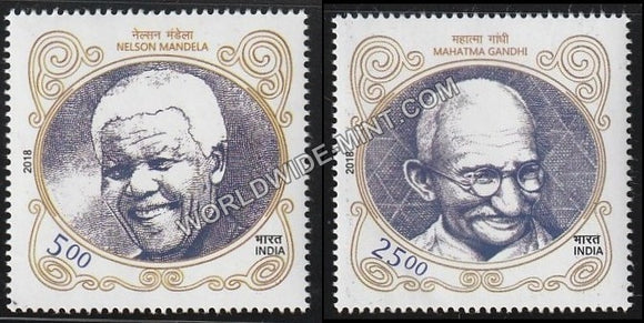 2018 India South Africa Joint Issue-Set of 2 MNH