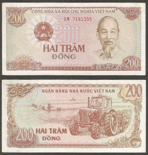 Vietnam  200 Dong  1987 Currency Note