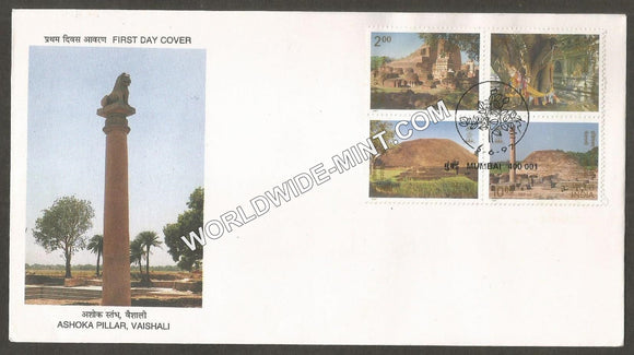 1997 Buddhist Sites setenant FDC