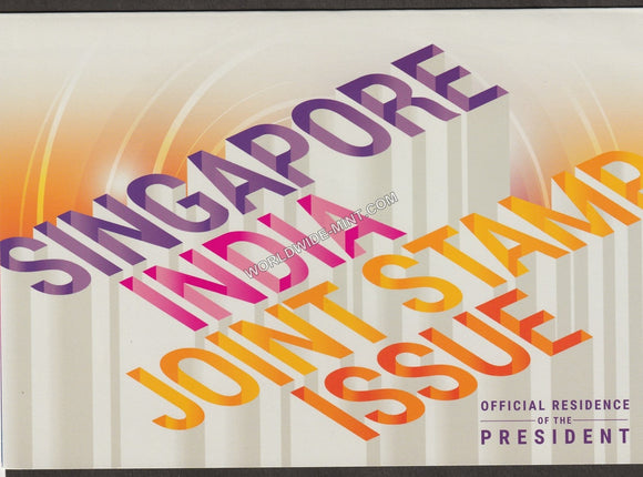 2015 Singapore India Joint issue- Presentation Folder -Rare
