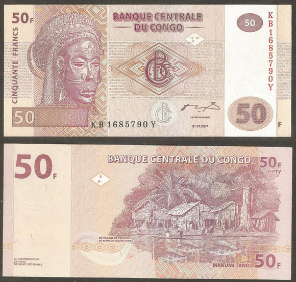 Congo 50 Franc  2007 Currency Note
