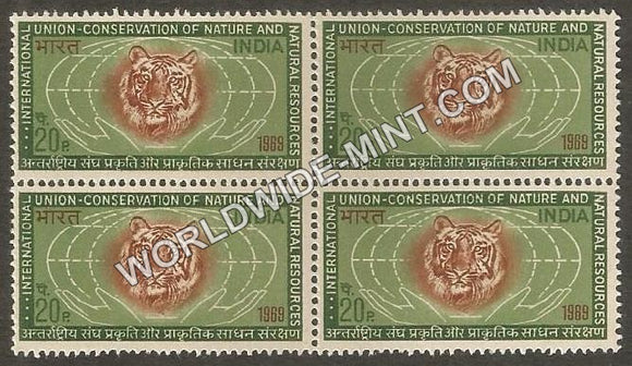 1969 Int. Union for Cons. of Nature and Natural Resources Block of 4 MNH