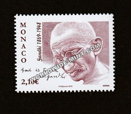 2019 Monoco Gandhi Single Stamp