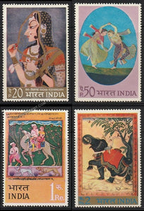 1973 Indian Miniature Paintings-Set of 4 MNH