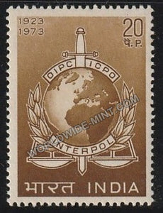 1973 50th Anniv. Of Interpol MNH