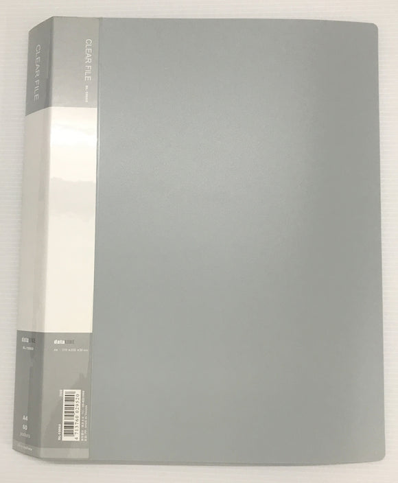 DL-10060 A4 Clear File- 60 Pockets-Grey Colour-For Big Sheetlets, Miniature Sheet, and Small Full Sheets - Imported Taiwan Made-Chuyu Culture