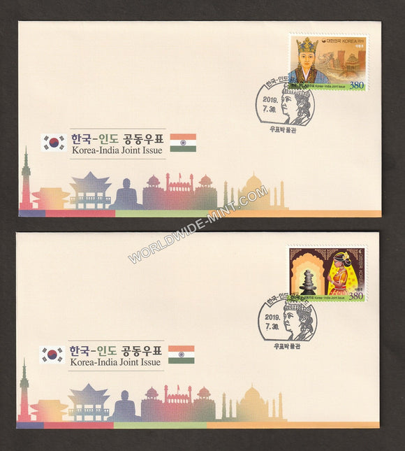 2019 Korea India Joint issue Setenant FDC