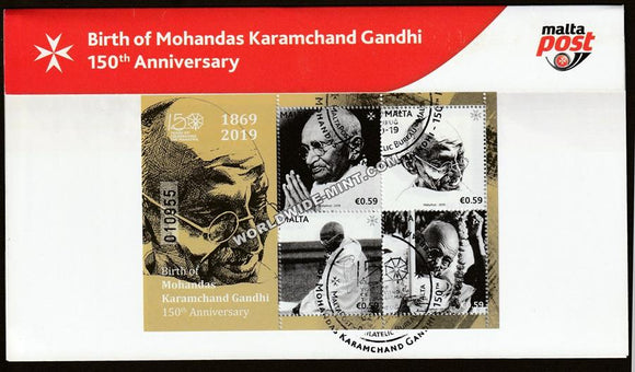 2019 Malta Gandhi MS cancelled Presentation Pack