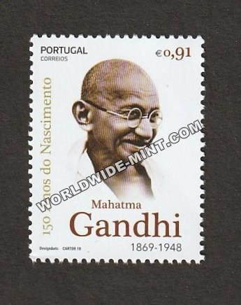 2019 Portugal Gandhi Single Stamp
