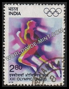 1976 XXI Olympics Games-Running Used Stamp