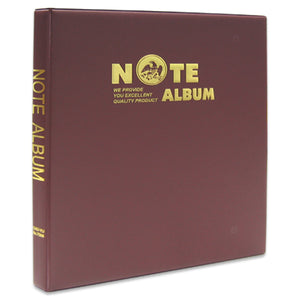 7006 Note/Currency Album 16 Pages/ 32 sides - Red Colour - Imported Taiwan Made- Chuyu Culture