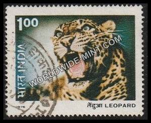 1976 Indian Wild Life-Leopard Used Stamp