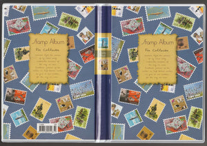 7168A Small Stamp Album Fixed-8 Sheets/16 Sides -5 strips – Blue Colour - Imported Taiwan Made- Chuyu Culture