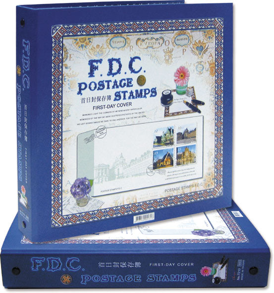 7210 FDC Album With case with 20 Refills included-Imported Taiwan Made-Chuyu Culture
