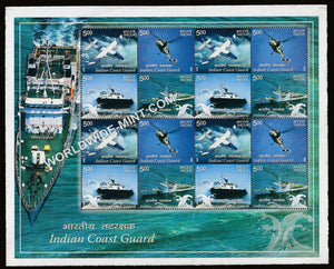 2008 Indian Coast Guard-Mix Sheetlet