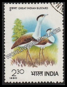 1980 Great Indian Bustard Used Stamp