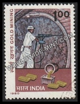 1980 Gold Mining Used Stamp