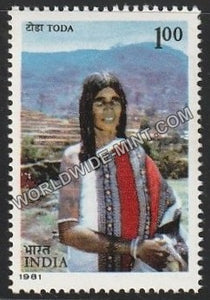 1981 Tribes of India-Khiamngan Naga MNH