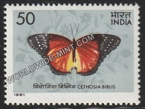 1981 Indian Butterflies-Cethosia biblis MNH