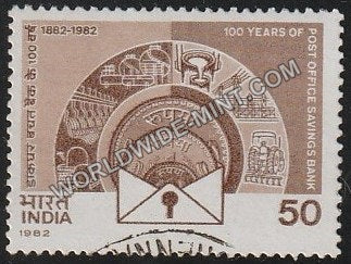 1982 100 Years of Post Office Savings Bank Used Stamp