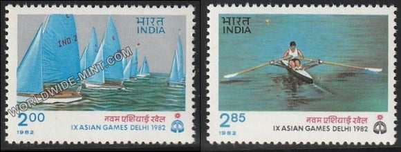 1982 IX Asian Games Delhi-set of 2 MNH