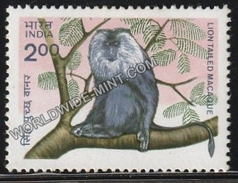 1983 Indian Wild Life-Lion Tailed Macaque MNH