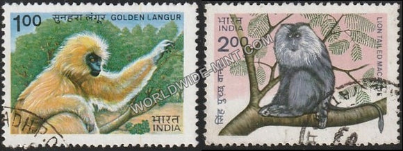 1983 Indian Wild Life-Set of 2 Used Stamp
