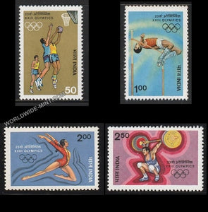 1984 XXIII Olympic Games-Set of 4 MNH